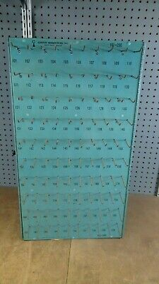 Vintage Curtis Locksmith Key Blank Display Holder Cutter 200 Posts Double sided