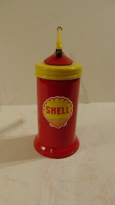 SHELL Vintage Gasoline Station Gas Motor Pump OIL CAN Spout Car Trigger UNUSUAL