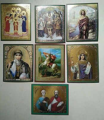 RUSSIAN CHRISTIAN ICONS x 7, choose any 7 icons you like