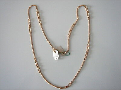 Very Beautiful Chain Gold Plated Long 51.5 cm 7 Grs Vintage New / New Old Chain