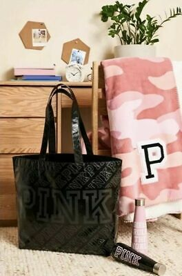 Victoria's Secret PINK Friday Sherpa Blanket Tote & Water Bottle Sip Swell Bag