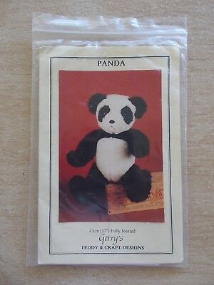Panda~43cm Fully Jointed~Pattern~Gerry's Teddy & Craft Designs