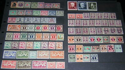 Danzig Mint Collection 98 diff stamps