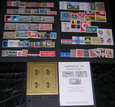 US & Worldwide Charity Seals & Cinderellas Collection 79 diff stamps