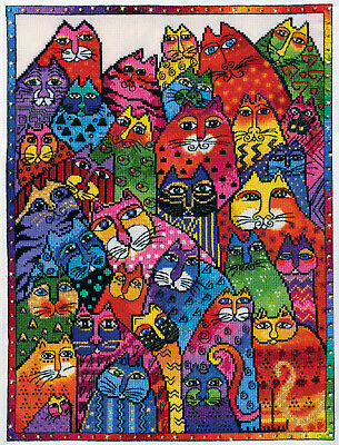 Cross Stitch Kit ~ Design Works Laurel Burch Cat Collage #DW3381
