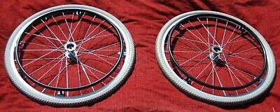 Lightly Used A PAIR OF  24 X 1/38 WHEELCHAIR WHEELS FREE DELIVERY