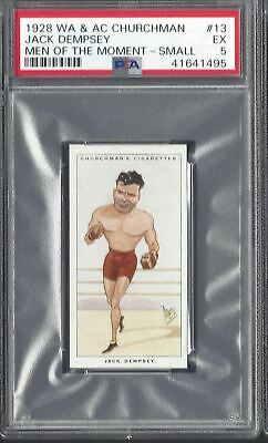 Churchman - Men Of The Moment (Small) - #13 Jack Dempsey, Boxing - Psa 5