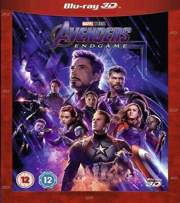 Avengers Endgame 3D + Godzilla the King of Monsters 3D Blu-ray Region Free 2in1