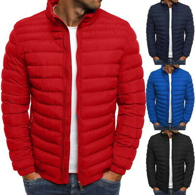 Men's Puffer Bubble Down Jacket Coat Quilted Lightweight Padded Packable Outwear