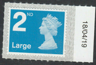 GB 2019 2nd LARGE CODE M19L SBP2u DATED 18/04/19 on SELVEDGE MNH