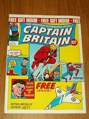 Captain Britain #24 23Rd March 1977 Marvel British Weekly Spiderman No Gift Pen