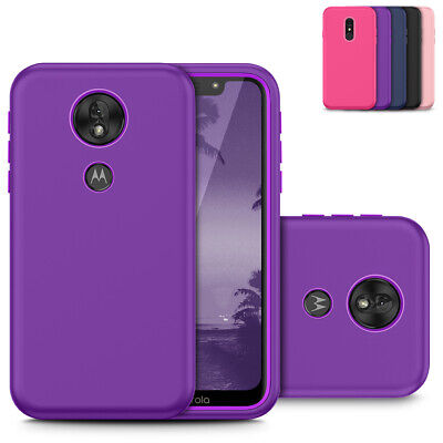 For Motorola Moto G7 Power / G7 Supra Stylish Dual Layer Hard Shockproof Case