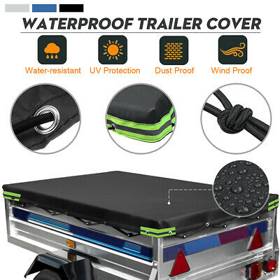 6' x 4' ft Oxford Cloth Trailer Cover Heavy Duty Waterproof 183 x 122 cm 6ft 4ft
