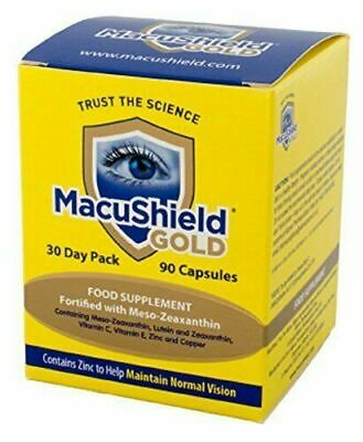 MacuShield Gold Eye Supplement 90 Capsules Food Supplement For Eye Health 30 Day
