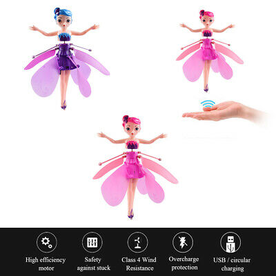 Flying Fairy Princess Dolls Magic Induction Control Toy Kids Xmas Birthday Gifts
