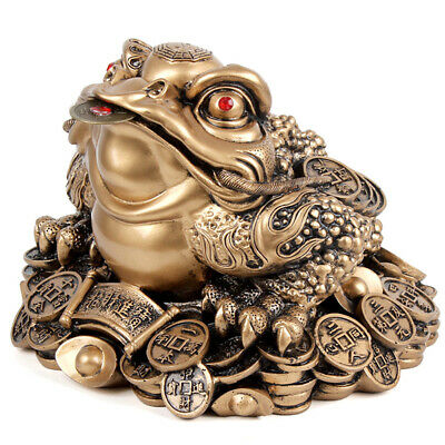 1pc Chinese Fortune Frog Feng Shui Lucky Money Toad Home Office Decoration BREEL