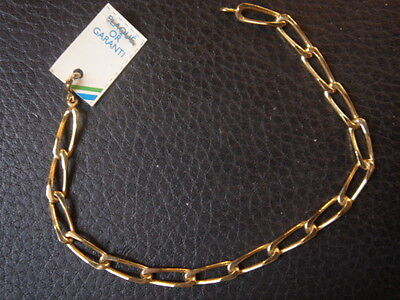 Very Beautiful Vintage Bracelet 1970 Gold Plated 5 Grs New / New/Old 7 1/8in
