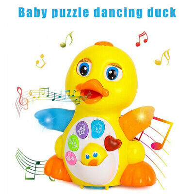 Light up Dancing Singing Cute Duck Toy Musical Educational Toys for Kids Toddler