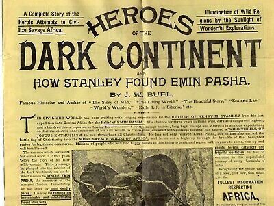 1889 Illustrated Brochure for Heroes of the Dark Continent Book