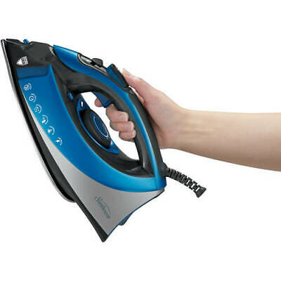 Steam Master Iron W/ Stainless Steel Sole Plate 1400W Non Stick Retractable Cord