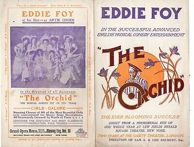 Early 1900's Advertising Brochure Eddie Foy in The Orchid
