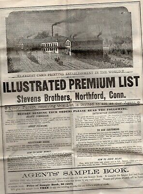1800's List of Premiums for Salesmen