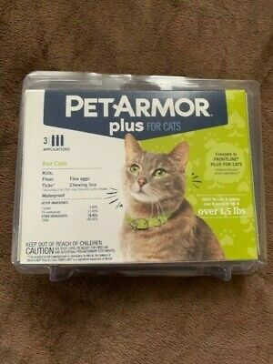 PetArmor Plus Flea & Tick Treatment for Cats over 1.5 lbs - 3 Month Supply
