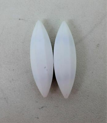 2 x A Type White Magnetic PTFE Teflon Coated Stirrer Bar Tool 20 x 70mm NEW
