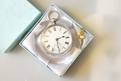 Beautiful Antique Hallmarked Silver WALTHAM Pocket Watch Dated 1884.