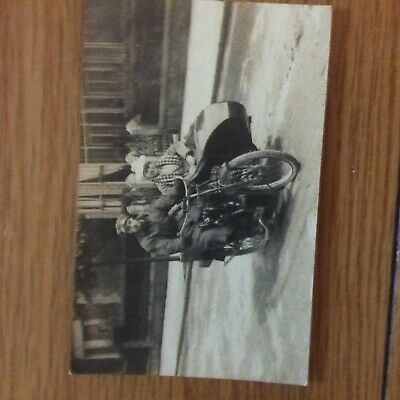 Vintage Motorcycle with sidecar  post card