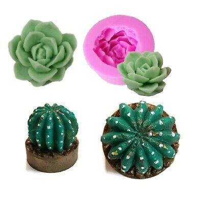 CACTUS Silicone Mould Mold: Soap Candle , Resin, Succulent Shapes Garden Flower