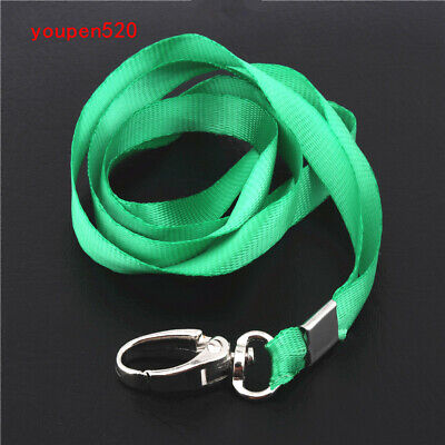 Dark green  rope  ID Badge  Lanyard Name Tag Holder Reels Key Ring Chain Clips