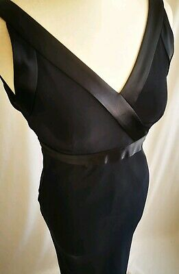 Phase Eight Size 8 Navy Ballgown Maxi Dress Low Back