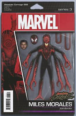 Absolute Carnage #3 Miles Action Figure Variant Marvel Comic 1st Print 2019 NM