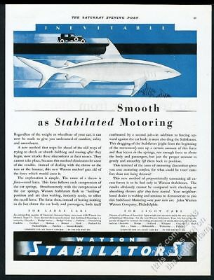 1928 art deco shark COOL art Watson Stabilators vintage print ad