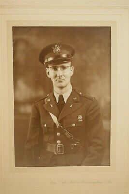 Vintage Early WWII Studio Photograph US Army Commissioned Officer Birmingham AL