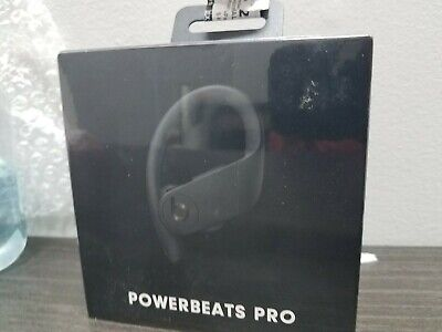 2019 Powerbeats Pro Wireless Earphones Power Beats Apple Black MV6Y2LL/A, Sealed