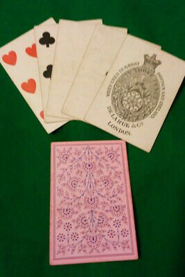 CIVIL WAR / WILD WEST period  LUCKY Poker hand FULL HOUSE A & 7s  Playing Cards