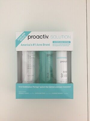 Brand New Proactiv Solution 3 Step Acne System 90 Days Treatment Cleanser Toner