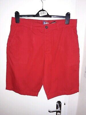 H&M Mens Red Shorts 32