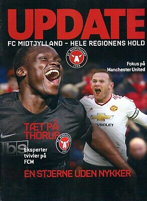 FC Midtjylland v Manchester United Europa League 2016 MATCH PROGRAMME/MAGAZINE