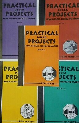 Lot of 5 DELTA PRACTICAL PROJECTS Books ~ Crafts, Woodwork, Vtg DIY Maypole