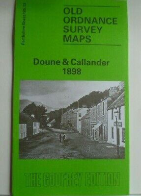 Old Ordnance Survey Maps Doune & Callander Perthshire Scotland 1898 Godfrey Edt