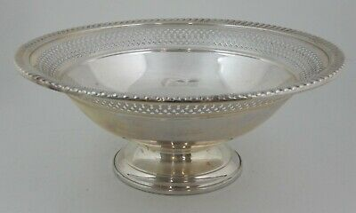 "Arrowsmith Sterling Pedestal Reticulated Pierced 8"" Bowl Compote 321 Grams Wt"