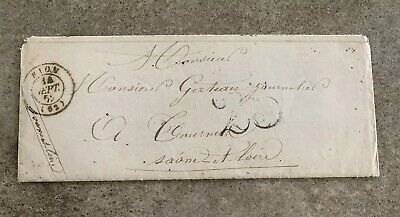 1825 France Stampless Cover '25' Rion /Tourmus with Letter
