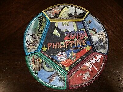 2019 24th World Scout Jamboree Philippine Contingent Patch Set (6)