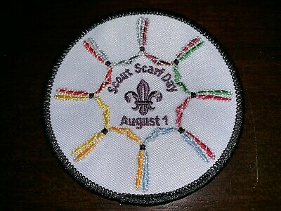 2019 24th World Scout Jamboree Scout Scarf Day Patch, Black