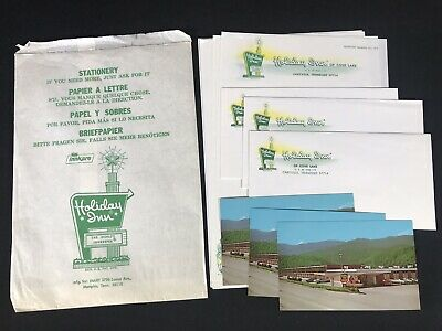 Vtg Holiday Inn Cove Lake Caryville Tennessee Stationery & Postcards Travel Bag