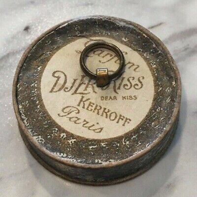 Vintage Collectible Djer-kiss c1914 Cardboard Face Powder Box with Powder