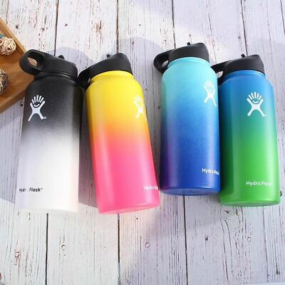 Gradient Color Hydro Flask Water Bottle Wide Mouth Stainless Steel Bottle 32Oz